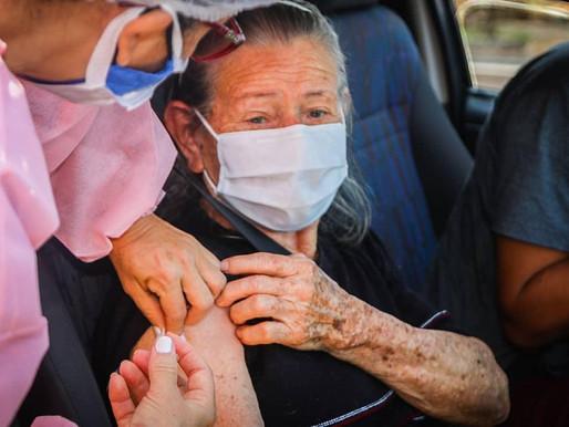 SESAM vacina idosos de 85 a 89 anos na sexta via Drive Thru