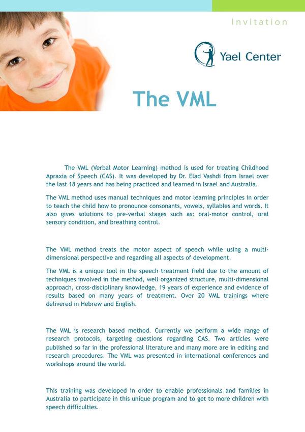 VML traning Ljubljana 2020 Brochure