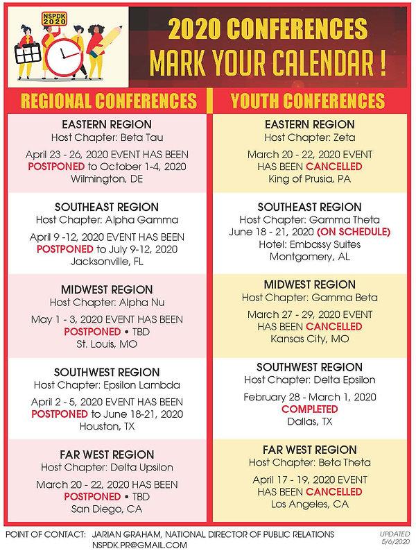 2020 NSPDK Conference Events Calendar_ve
