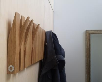 Recycled Oak Coat Panel