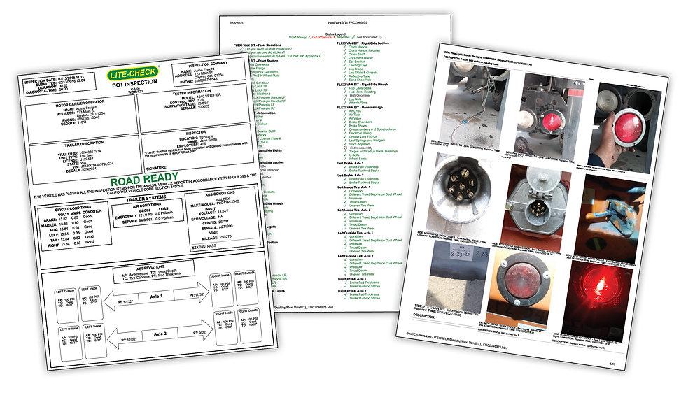 DOT Inspection Report Sample