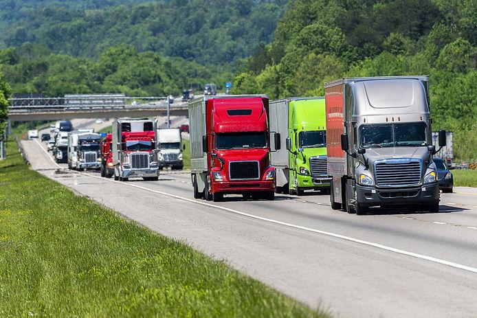Semi Trailer Truck Fleet