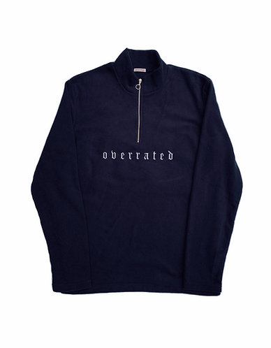 QUARTER-ZIP FLEECE - NAVY
