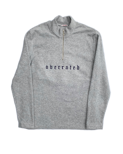 QUARTER-ZIP FLEECE - GREY