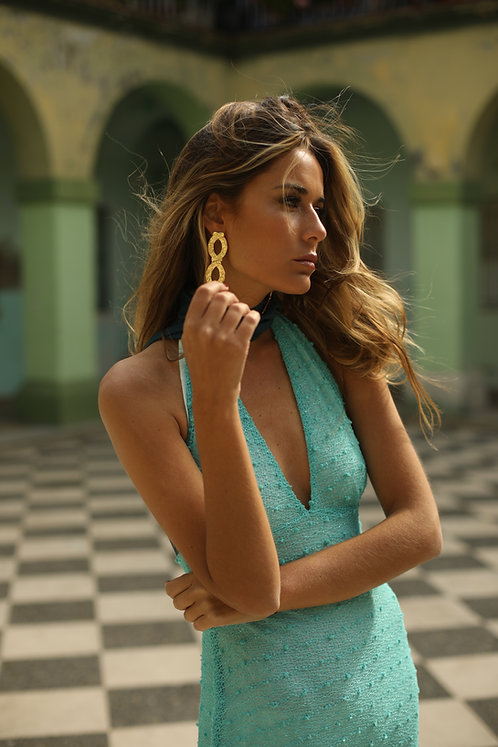EL PASO dress • Aguamarina