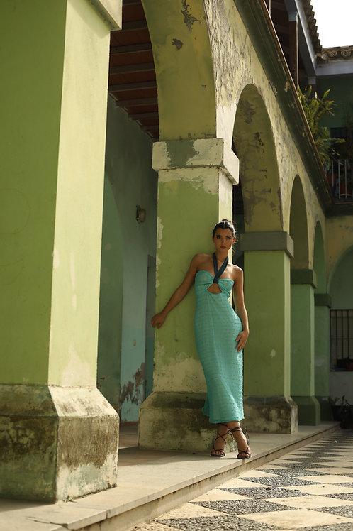 MILAGRITOS dress • Aguamarina
