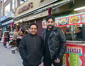 Bobby with Channi Singh, founder of lege