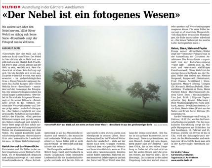 """Presse zur Ausstellung - Bildserie """"Brouillard"""""""