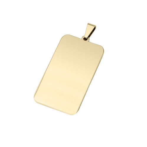 Dije Rectangular Bañado en Oro de 18k