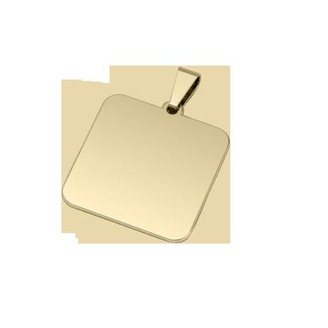 Cuadrado Bañado en Oro de 18k