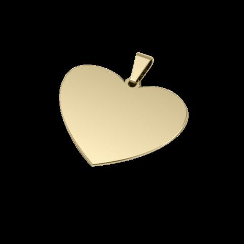 Dije de Acero Bañado en Oro de 18K