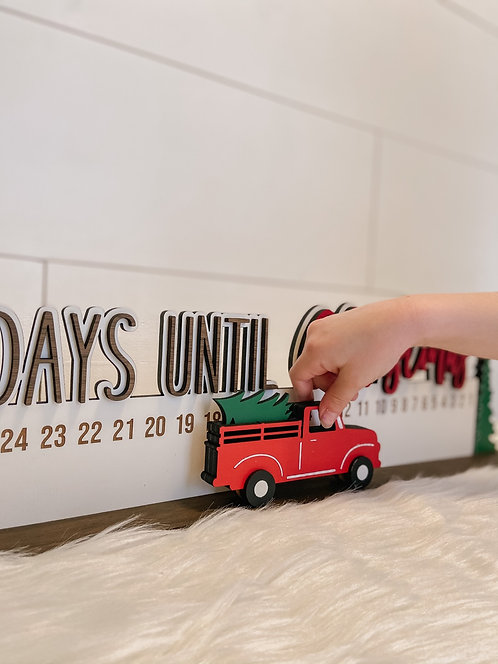 Days Until Christmas Truck Countdown