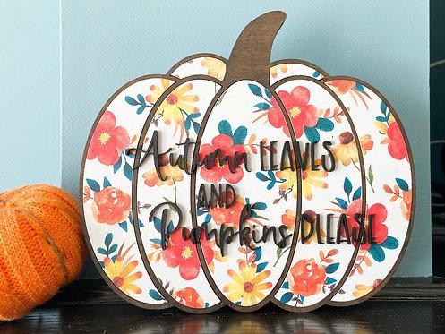 Autumn Leaves Pumpkin (Large)