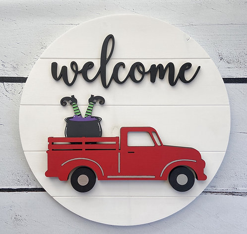 Interchangeable Welcome Truck Sign