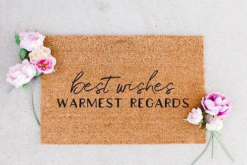Best Wishes Warmest Regards Doormat