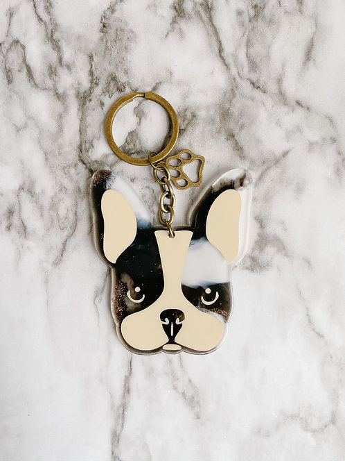 Frenchie Face Keychain