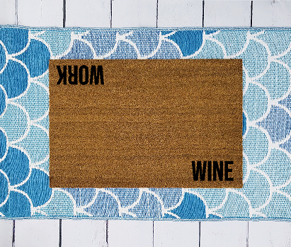 Wine/work doormat
