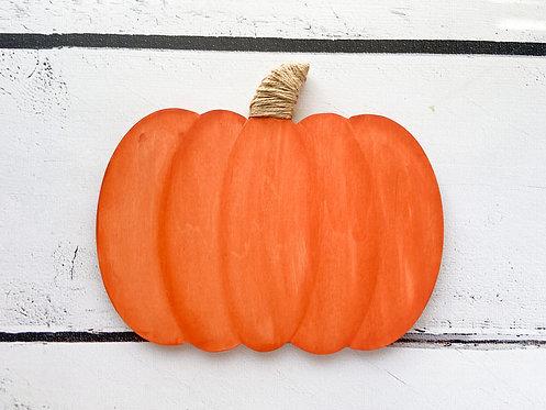 Wood Pumpkin Shelf Sitter/Sign