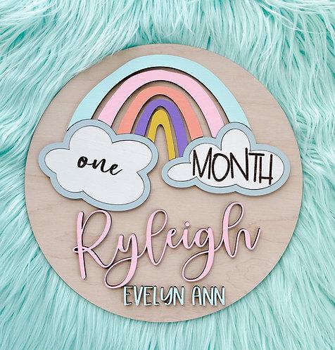 The Ryleigh Rainbow Milestone Board