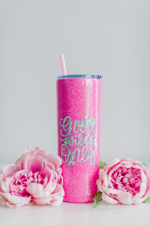 20oz Skinny Good Vibes Tumbler