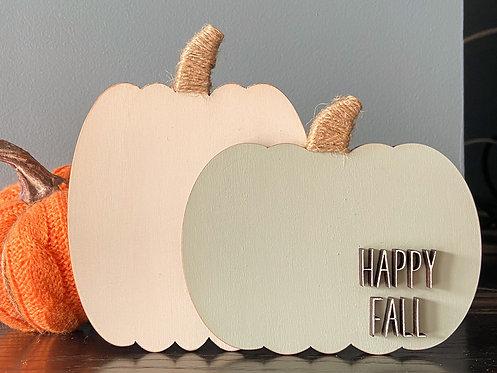 Happy Fall Pumpkin Duo