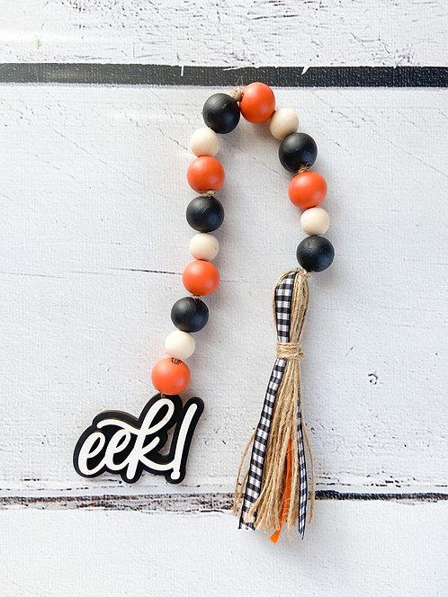 EEK Fall/Halloween Wood Bead Garland