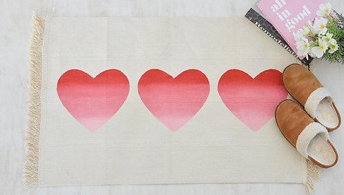 Ombre Hearts Rug