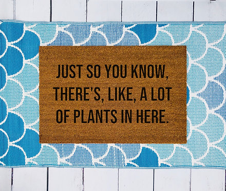 Like, A Lot of Plants In Here Doormat