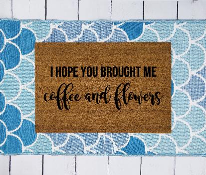 Coffee and Flowers Doormat