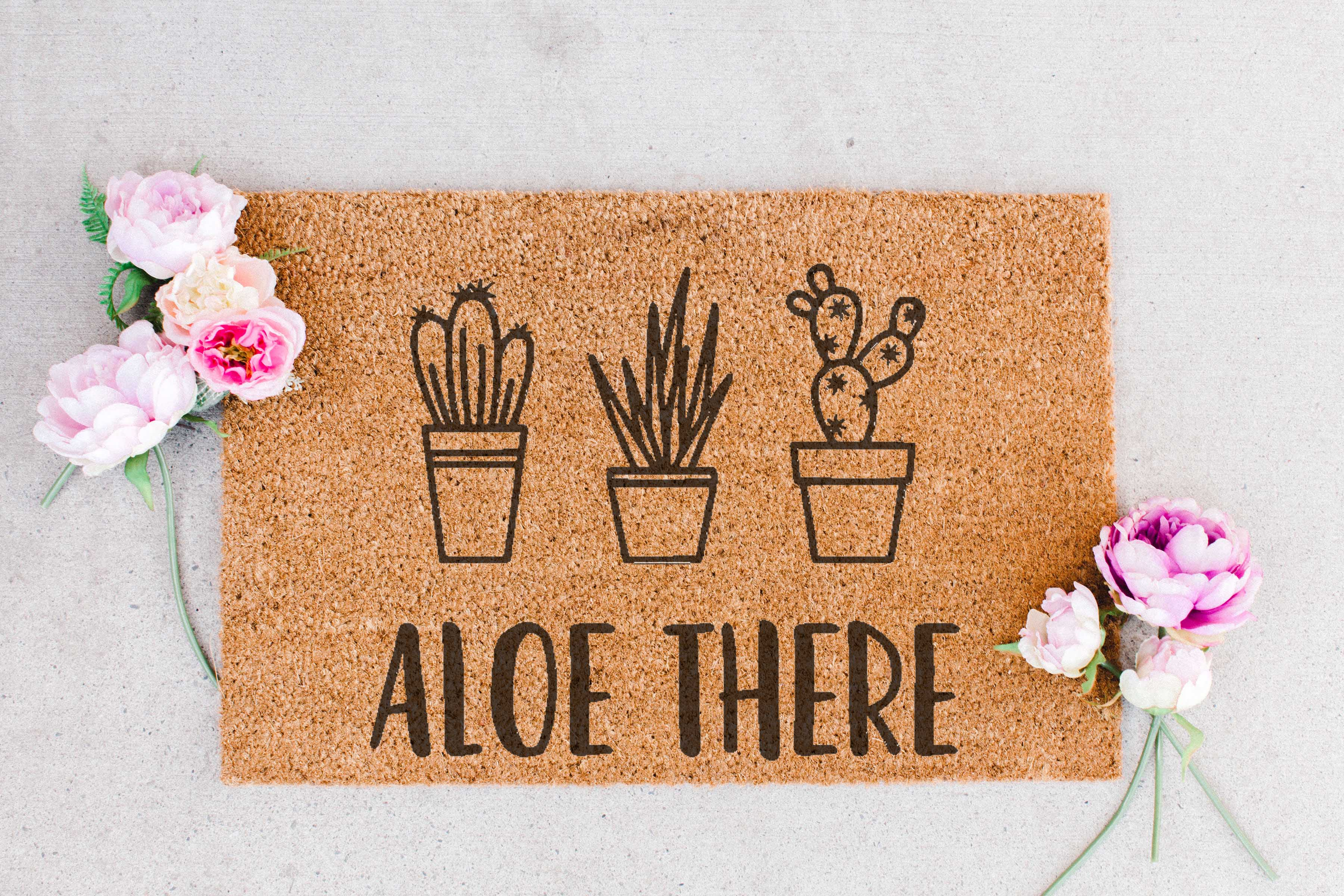 ALOE THERE FLORAL MOCKUP