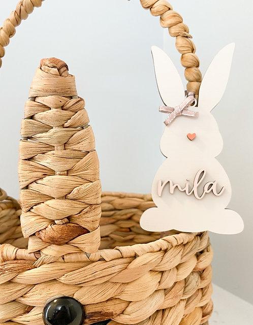 Easter Basket Tag - Solid Bunny