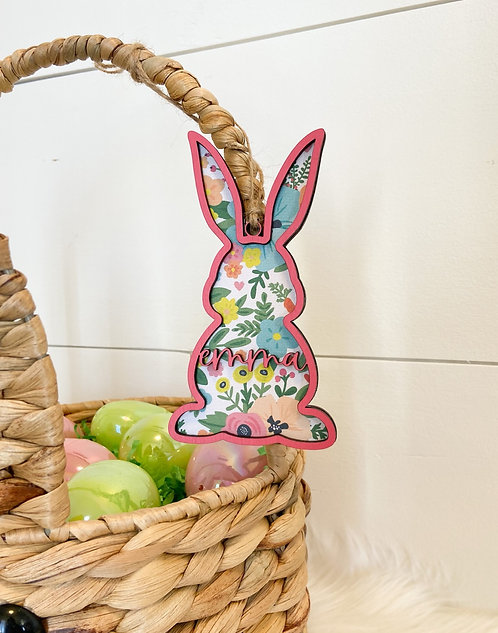 Easter Basket Tag - Pattern Bunny