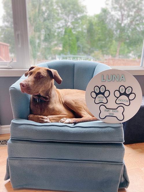 Dog Milestone Board