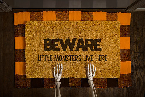 Beware - Little Monsters Doormat