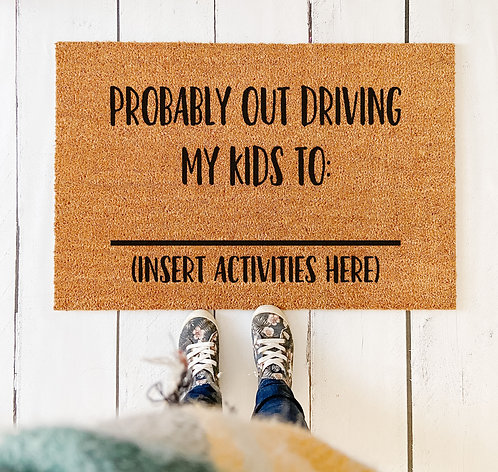 Out Driving Kids Doormat