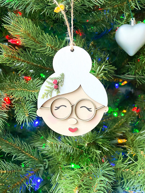 Santa/Mrs. Clause Ornament