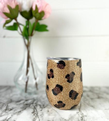 Leopard Print Wine Tumbler