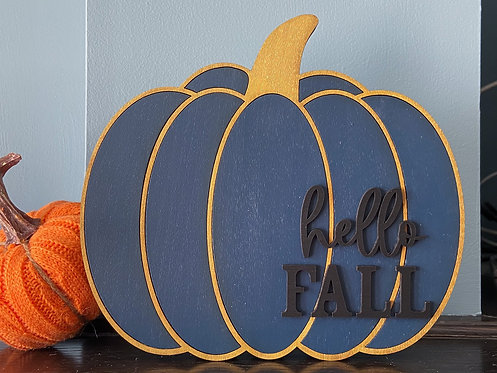 Hello Fall Pumpkin (Large)