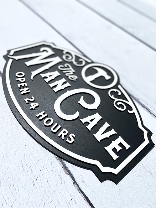 The Man Cave Wood Sign