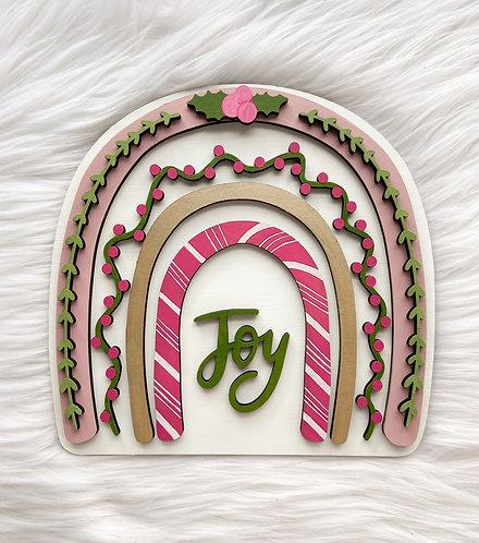 Boho Rainbow Joyful Holiday Sign/Insert