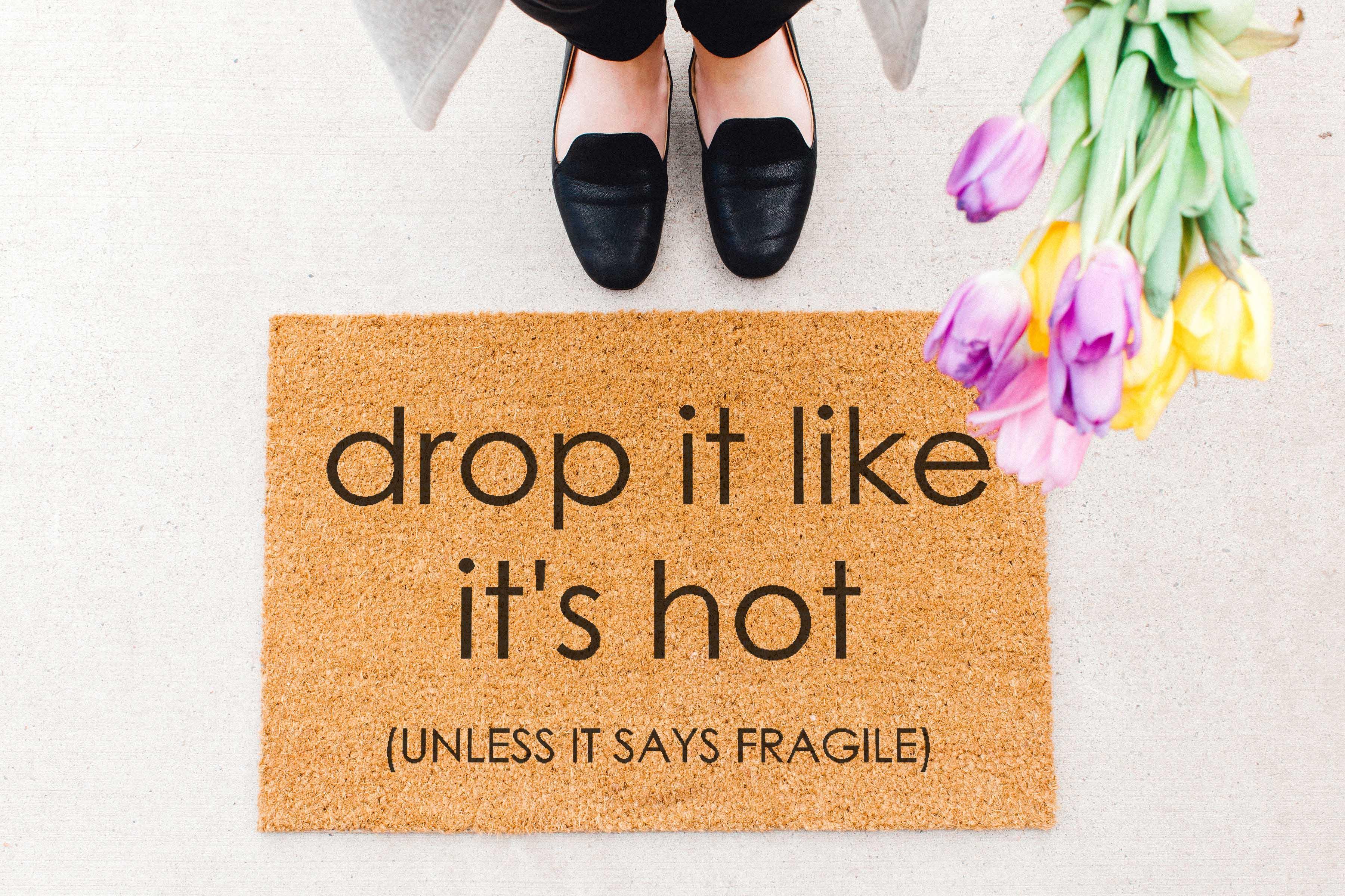 drop it doormat