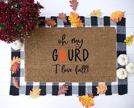 Oh My Gourd Doormat