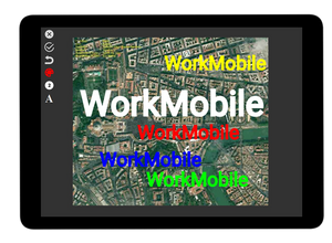 WorkMobile text