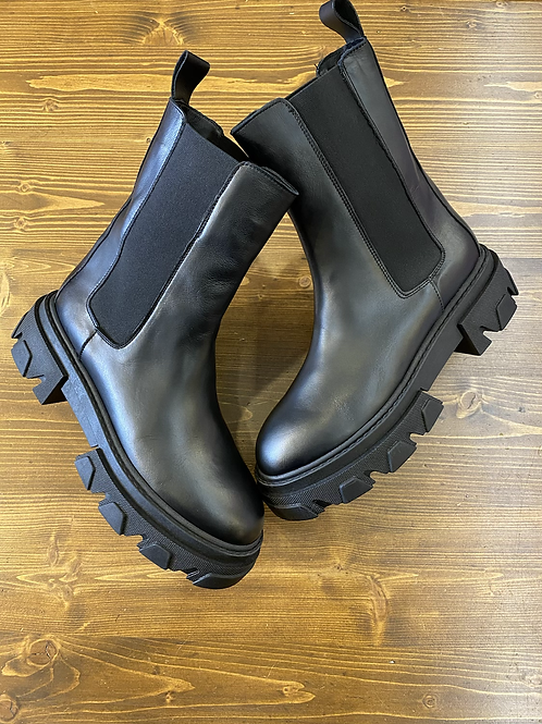 Combat Boots pelle nera