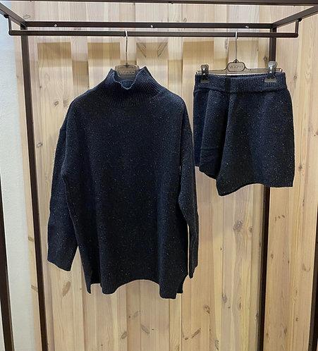 Coordinato in maglia Vicolo,nero