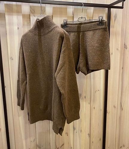Coordinato in maglia Vicolo, marrone