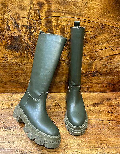 Combat boot alto verde