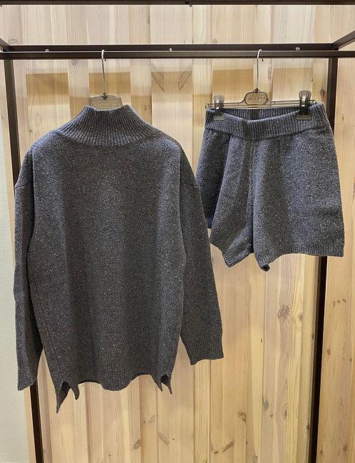 Coordinato in maglia Vicolo,grigio