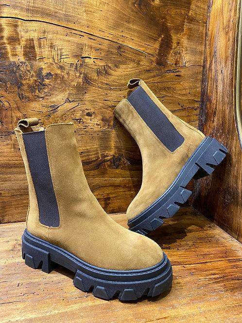 Combat boots camoscio