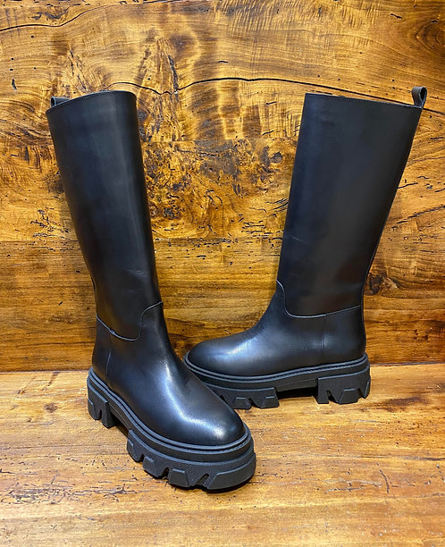 Combat boot alto nero